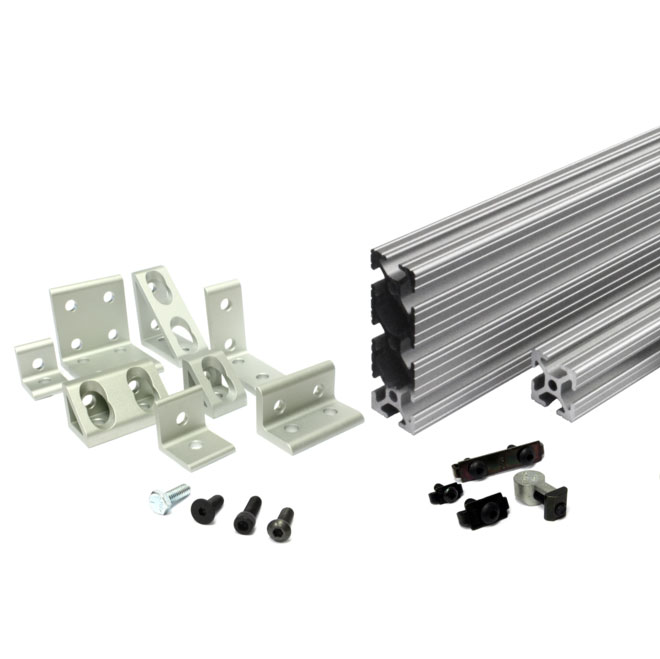 Aluminum T-Slot Extrusions, Brackets, and Fasteners